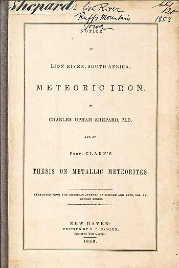 Lion River Meteorite Shepard