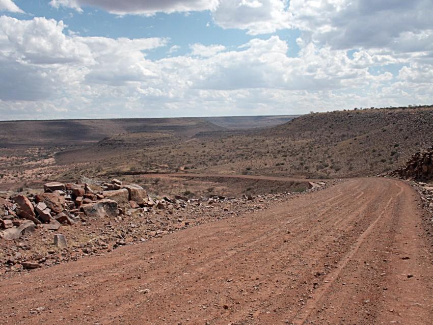 Gibeon meteorites Hardap road