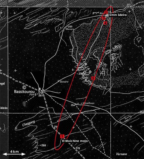 Bassikounou meteorite strewnfield