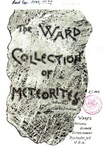 Ward meteorite catalogue