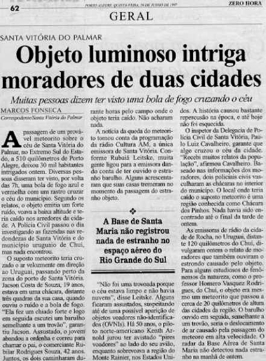 noticia meteorito santa vitoria